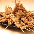 県内ではなかなか出会えない本格的鶏専門店!名物秘伝かわ串は1本70円でご提供いたします。安心安全の国産鶏を使用した鶏料理はどれも絶品なのでぜひご堪能ください!