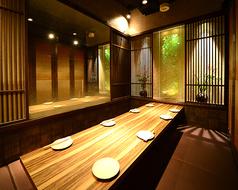 2~8名様完全個室。御予約優先のため、お早目のお電話お待ちしております。