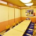【宴会向きの席】ご家族でもお使いいただけるほか、女子会や合コンといった大人数でのご宴会にも適したお部屋がこちらの座敷席。12名様までご利用可能ですのでお気軽にお問い合わせください。