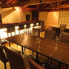 落ち着いた雰囲気の2階席は15名様から貸切可能!
