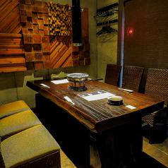 完全個室は最大6名収容。周りが気にならない完全プライベート空間です。接待にも◎