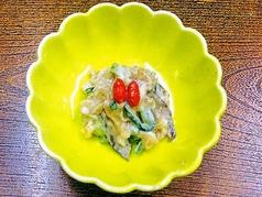 料理メニュー写真椎茸・栗麩・胡瓜の胡麻酢和え