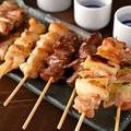 料理メニュー写真厳選串銘柄鶏5本盛り合わせ