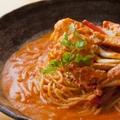 料理メニュー写真渡りガニのトマトクリームパスタ