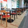 <オープンテラス席完備>開放的なお席でモーニング・ランチ・ディナーをお楽しみください。テラス席はペットOK、wi-fiあり。  ≪食べ放題/飲み放題/貸切/歓送迎会≫