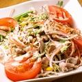 料理メニュー写真豚しゃぶと水菜のゴマサラダ