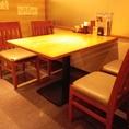 4名様用テーブル席です。
