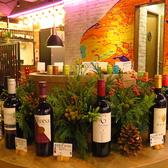 店内中央に並ぶワインはワインバイキングで♪