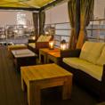 【4F・屋上テラス席】都心上空を楽しむ贅沢な空間で心に残る憩いの時をお過ごしいただけます。。●着席2名~60名●全館ご利用最大500名様まで!