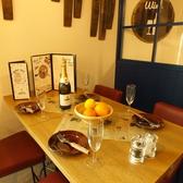清潔感のある広々テーブル