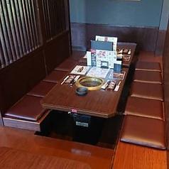 足元ゆったり掘りごたつ席で、お寛ぎ頂けます。広々とした店内でゆったりとお食事をお楽しみ下さい!