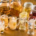 定番メニューはもちろん、銘酒など幅広いお酒をご用意あり!飲み放題メニューも豊富に取り揃えております。