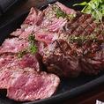 メインのステーキは【部位】と【グラム】をお好みで選んでオーダー!名古屋駅/居酒屋/個室/肉バル/単品飲み放題/飲み会/女子会