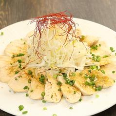 蒸し鶏と湯葉の胡麻サラダ