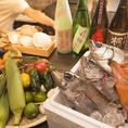 各産地にこだわった食材を使った料理多数!
