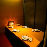 ◆扉付個室席完備◆完全個室でゆったりお過ごしください