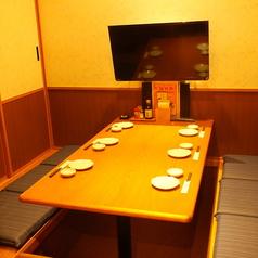 ご家族でのご利用にも最適な完全個室空間。