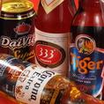 ベトナムビールご用意してます!さっぱりした333(バーバーバー)と、コクがある黒ビール2種類。その他海外のビールも楽しめちゃいます☆