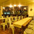 テーブル席はお客様の人数に合わせてレイアウトが可能です♪少人数で立ち寄られる際や、大人数でのご利用でもOK!!