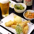 料理メニュー写真ほろ酔いセット(生ビール)