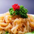 料理メニュー写真クラゲの冷菜/チャーシュー冷菜/蒸し鶏の冷菜白葱添え