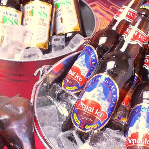 本場の味、「ネパールアイス」ビールや「インディアンボス・ボス」ビールが味わえる!
