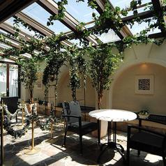 【4F:テラス席】テラス席も完備しております。日の当たる心地よい空間でランチをお楽しみ下さい。