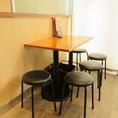 5名テーブル席は4卓のご用意がございます。
