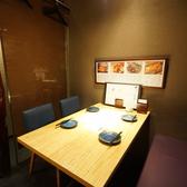 4名様まで利用可能な半個室席