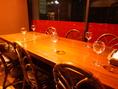 窓側の6人席テーブル。