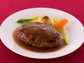 料理メニュー写真ハンバーグステーキ(フォンドヴォーソースorジャポネソース)