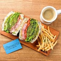 ランチTime♪挽きたてコナコーヒーと創作サンドウィッチ