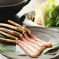 料理メニュー写真ずわい蟹しゃぶしゃぶ(一人前:五本)