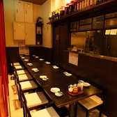 10~14名様まで使えるテーブル席。歓送迎会や宴会にご利用ください。