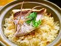料理メニュー写真土鍋 鯛飯(2~3人前)