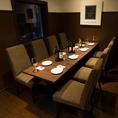 【10名様用 個室スペース】 大人の宴会にぴったりの個室です。