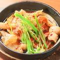 料理メニュー写真韓国風豚ばら鉄板焼き