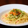 料理メニュー写真ウニのクリームソースのスパゲティ
