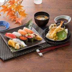 握り寿司と秋味天ぷら御膳