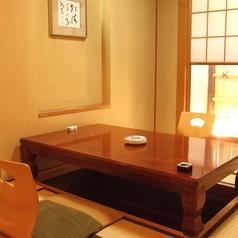 少人数での飲み会・ご家族でのお食事・接待などには掘りごたつの個室をご用意。周りを気にせずゆったり楽しめます。