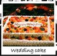 3500円の2次会プランはウェディングケーキ付きです!新郎新婦によるケーキカットなど思い出に残るシーンを演出するお手伝い致します!