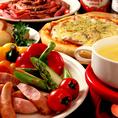 【女子会】女子会なら肉&チーズフォンデュ食べ放題コースがオススメ!豊富な具材はどれもチーズにぴったりです!!