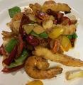料理メニュー写真魚香蝦 揚げエビの酸味辛味ソース