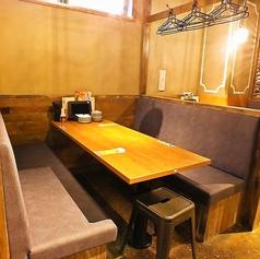 ボックス型のソファー席を多数ご用意しております!