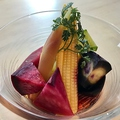 料理メニュー写真ビールで漬けたお野菜のピクルス