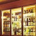 日本酒をしまっている冷蔵ショーケース。マイナス2度設定で日本酒も安心の品質です。