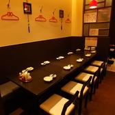 8~10名様まで使えるテーブル席。歓送迎会や宴会にご利用ください。