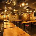 広々空間で40名様までの大型宴会もお任せ♪シーンに合わせてテーブルの配置をカスタマイズ致します☆コースメニューも多数ご用意!