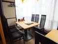 6名座れる半個室のお席です。12名まで着席可能で、個室にも☆記念日などのご予約もオススメです!
