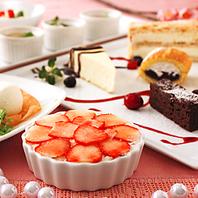 お腹いっぱいのデザート!